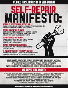 Repair Manifesto on ifixit.com