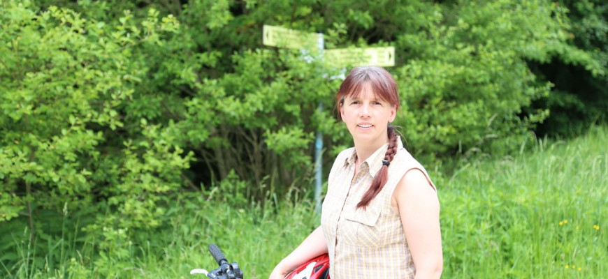Antje Wagner zieht das Rad dem Auto vor, so wie der Rest ihrer Familie auch
