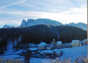 Blick aus FeWo 3 im Winter