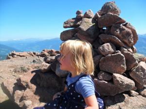 Mascha am Gipfel